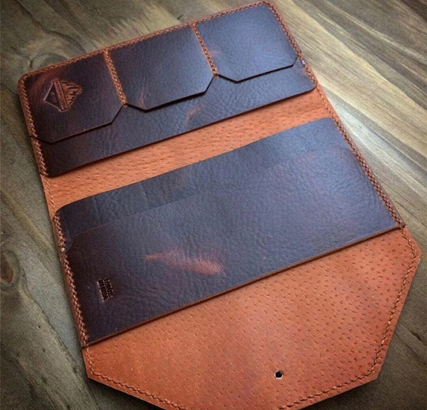 Mtn. Face Leather Clutch Wallet
