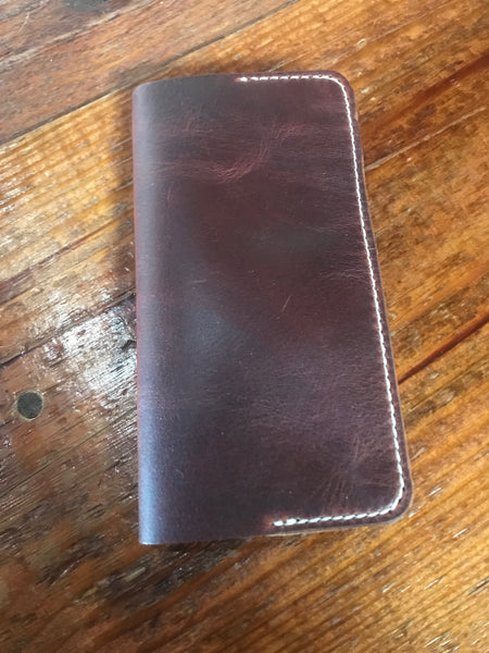 Mtn. Face Leathers Long Wallet: Dark Brown