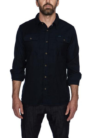 Crawford Navy Flannel Shirt
