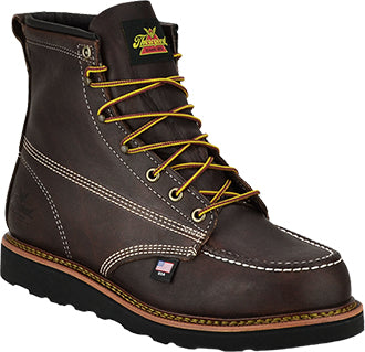 "Men's Thorogood 6"" Moc Toe Work Boot (U.S.A. Made) Black Walnut"