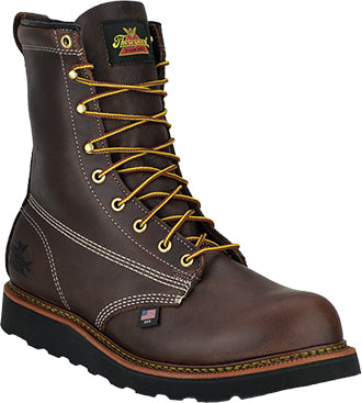 "Men's Thorogood 8"" Steel Toe Wedge Sole Work Boot (U.S.A. Made)"
