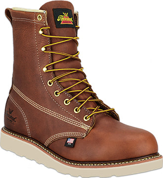 "Men's 8"" Thorogood Work Boots (U.S.A. Made) Tobacco"