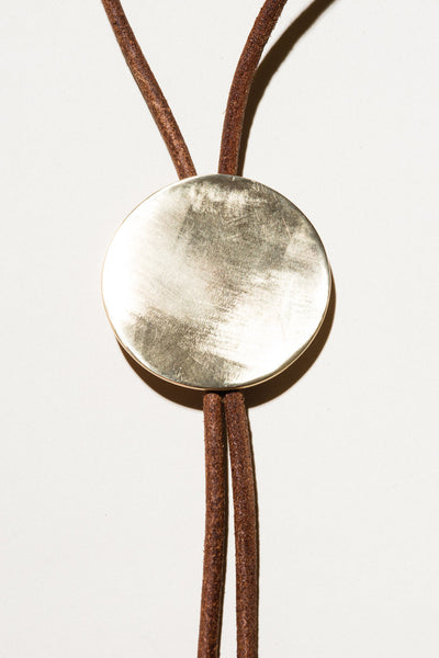 Naked Eyes: Large Brass Bolo Tie