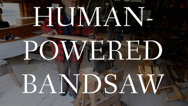 Watch a Human-powered Bandsaw at Work