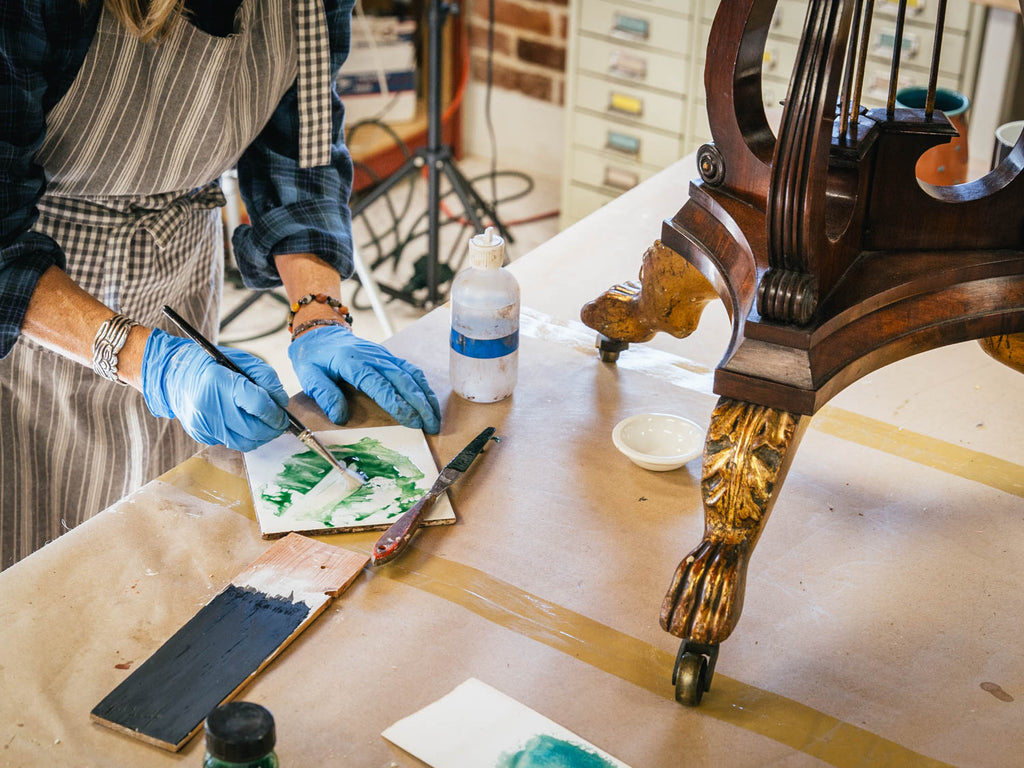 "Issue Four T.O.C. – ""Entrusted to Our Care: An Interview with Furniture Conservator Christine Thomson"""