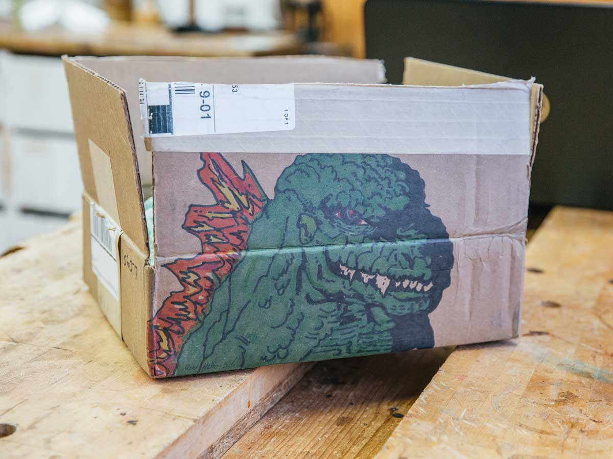 """Please Draw Godzilla on the Box"""