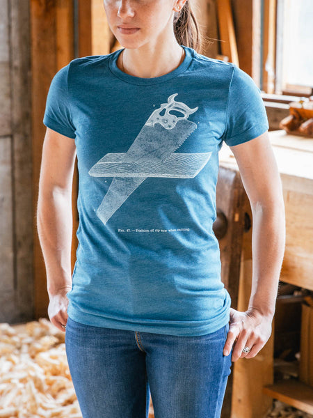 "Women's Teal ""Ripsaw"" T-shirt"
