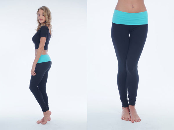 Leggings With Folding Waistband