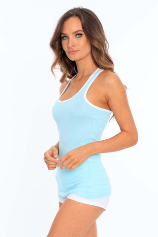 Miami Style® - Women's Racerback Tank with Ringer Trim