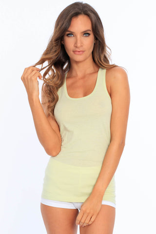Basic Cotton Racerback Tank Top