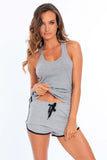 Miami Style® - Women's Modal Sporty Shorts with Side Stripes