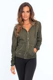 Women's Cool Dye Zip Up Hoodie