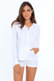 Women's Oversized Zip Up Hoodie
