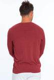 Men's Lycra Long Sleeve Crew Neck T-Shirt