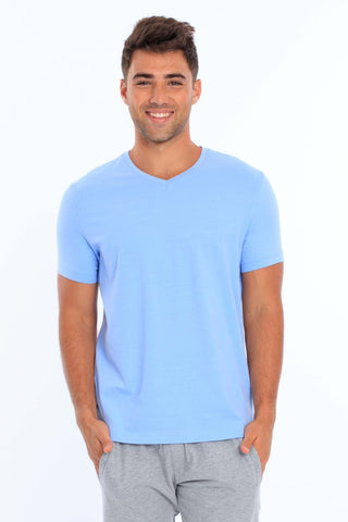 Men's Lycra V-Neck T-Shirt