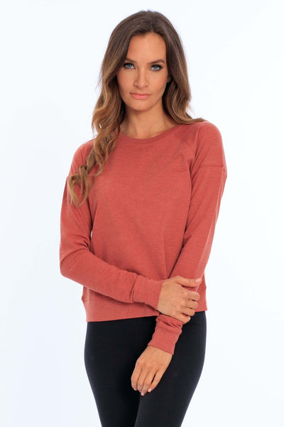 Women's French Terry Crew Neck Top