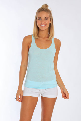 Miami Style® - Racerback Tank Top With Raw Edges