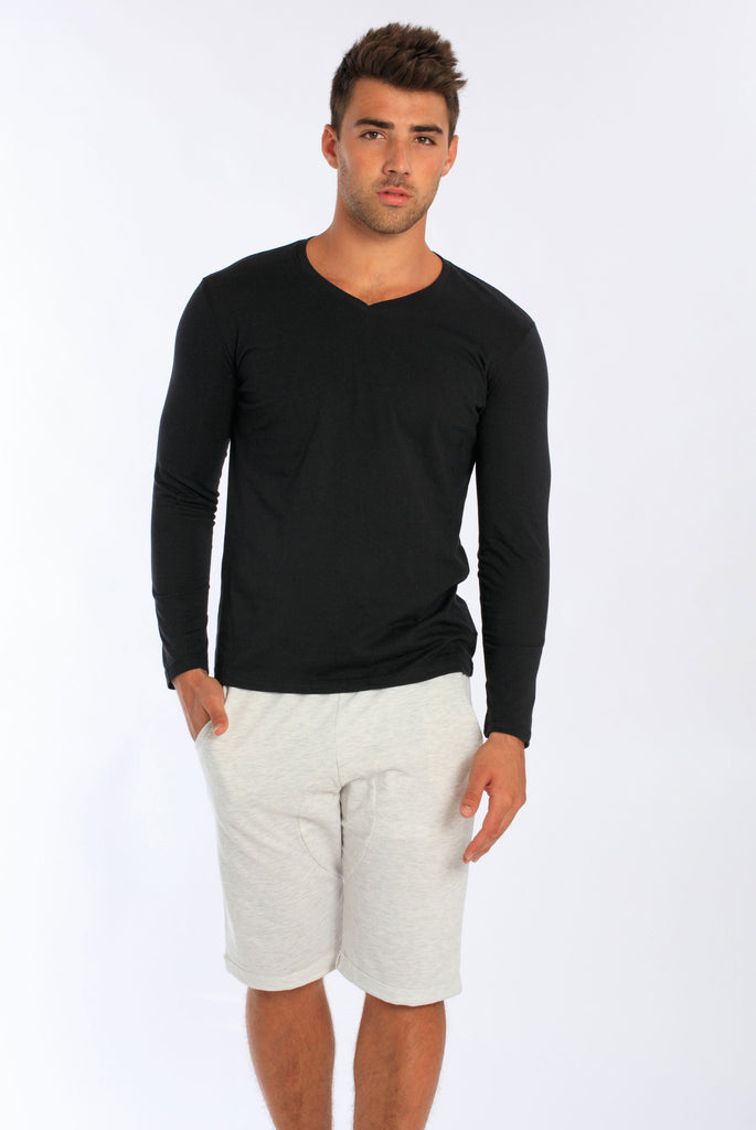 1a5d8b51be64 Miami Style® - Men s Long Sleeve V-Neck T-Shirt