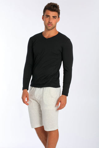 Miami Style® - Men's Long Sleeve V-Neck T-Shirt
