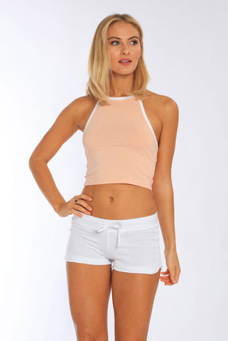 2e6aa1464cfc4e Miami Style® - Women s Fitted Halter Neck Cropped Top