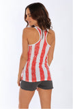 Miami Style® - Distressed USA Flag Tank Top