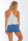 Miami Style® - Womens Cotton Shorts With Side Slit