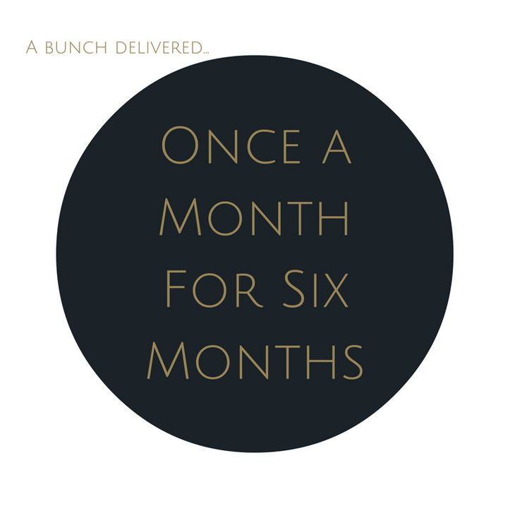 Order Medium Bouquet Subscription once a month for six months