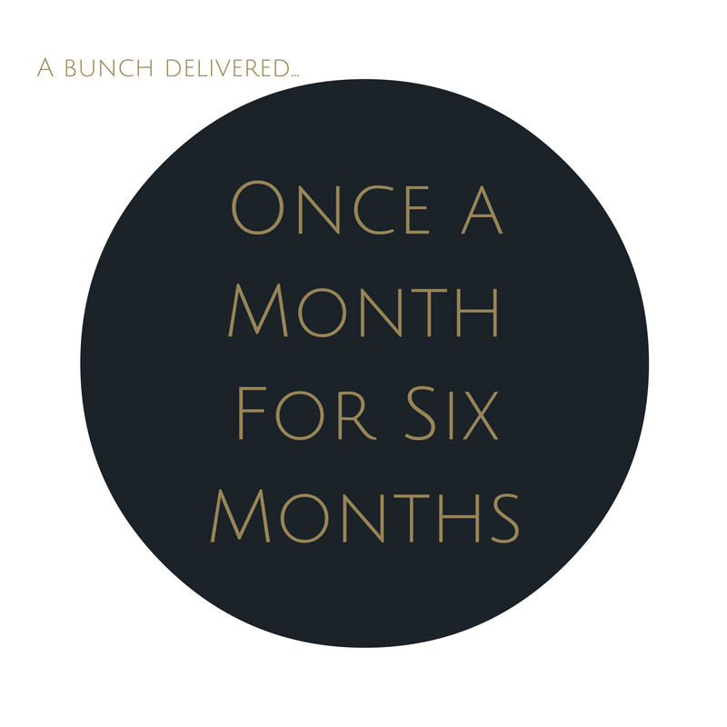 Order Large Bouquet Subscription once a month for six months