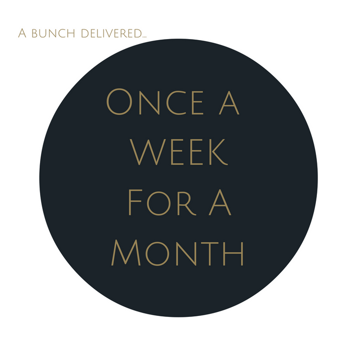 Order Medium Bouquet Subscription once a week for a month