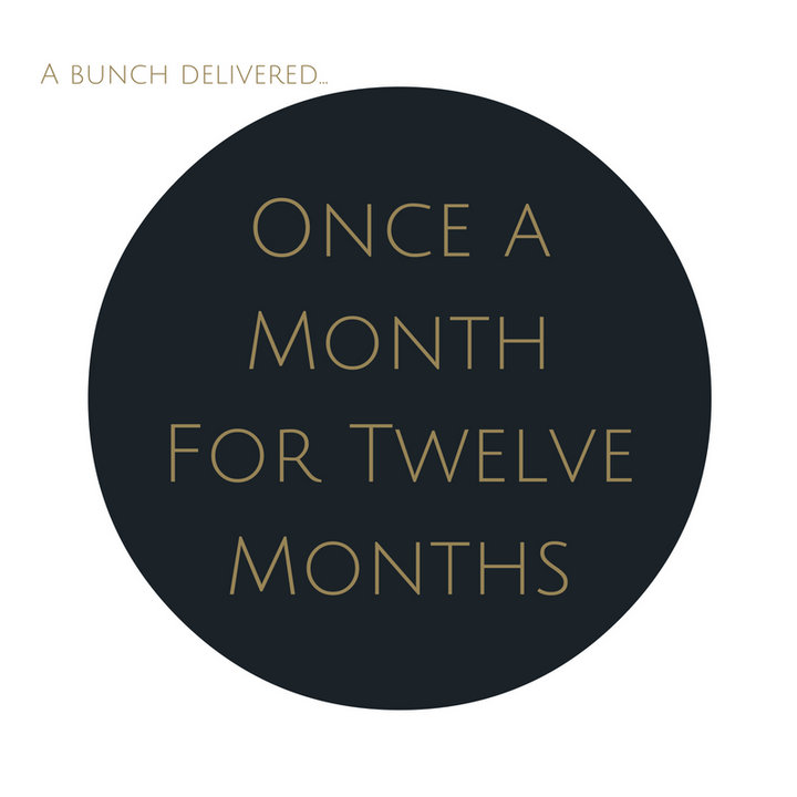 Order Medium Bouquet Subscription once a month for twelve months. Save $18