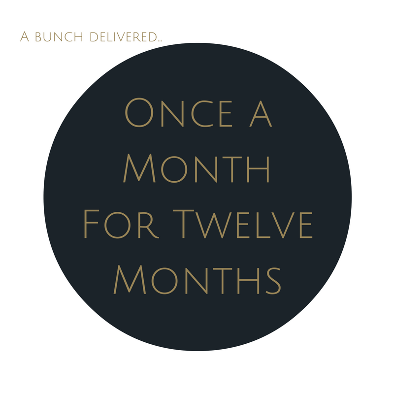 Order Large Bouquet Subscription once a month for twelve months. Save $23