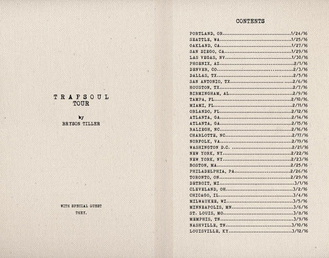 Bryson Tiller's Trapsoul Tour featuring THEY.