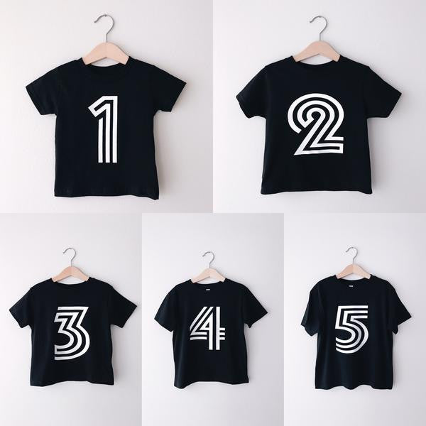 Birthday Bold Number T Shirts
