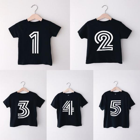 Bold Birthday Number T-Shirts