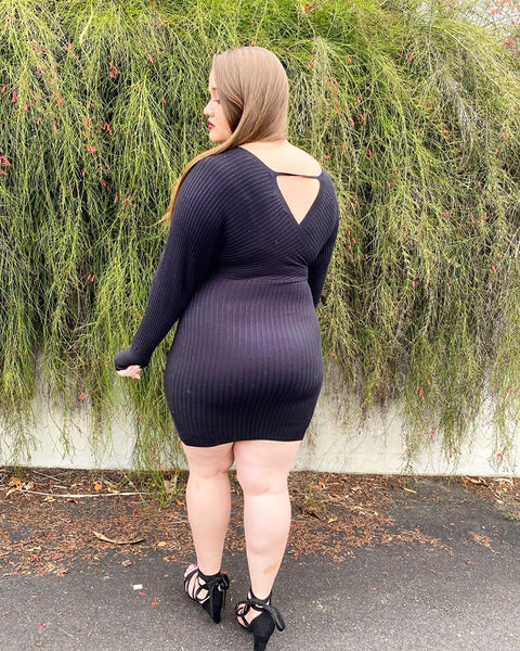 Sophia Knit Dress - Black