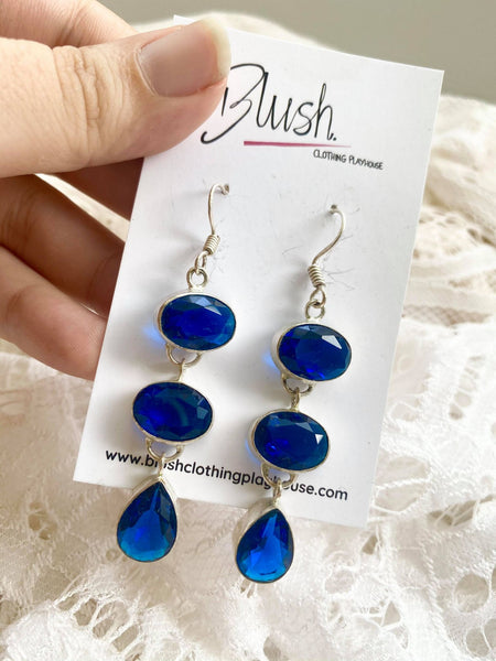 Lolite & Silver Drop Earrings