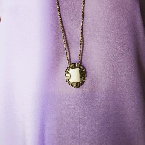 White and Gold Pendant - Blush Clothing Playhouse