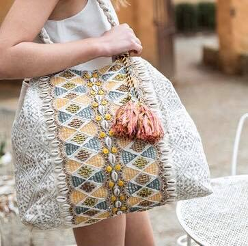Shell and Bead Detail Bag