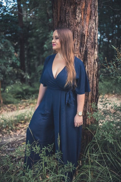 Charlotte Jumpsuit in Navy & Black - Blush Clothing Playhouse