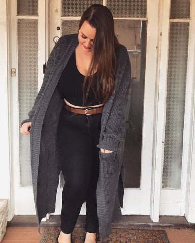Charcoal Katie Cardigan PRE-ORDER