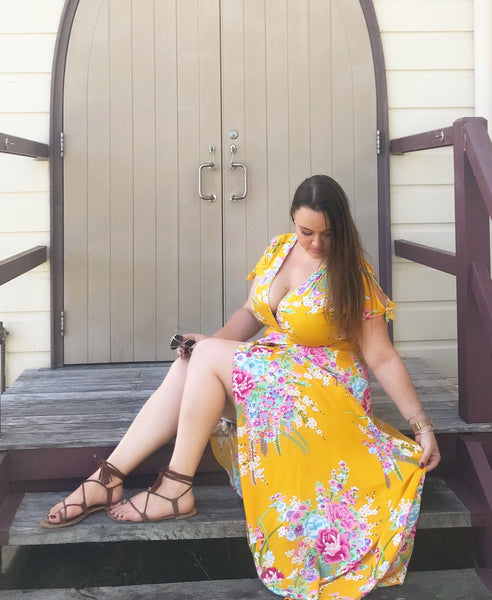 Belle Maxi In Mustard - Blush Clothing Playhouse