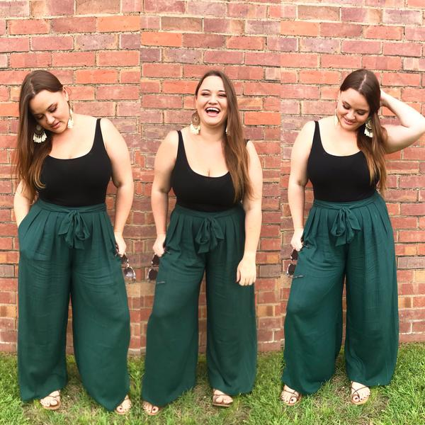 Crinkle Penny Pants - Black