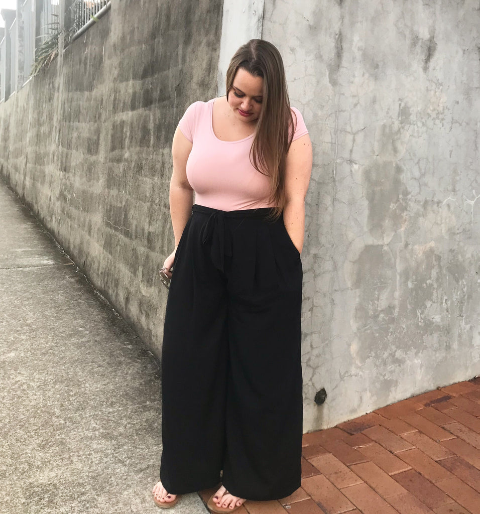 Plain Black Penny Pants