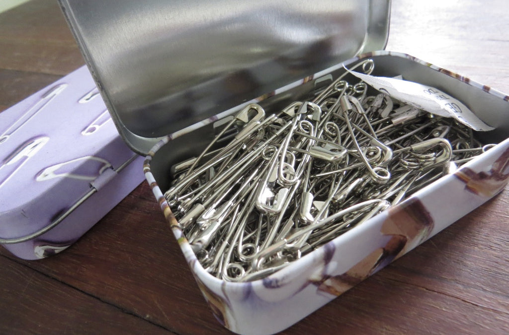 Safety Pin 100pcs Tin - Blush Clothing Playhouse