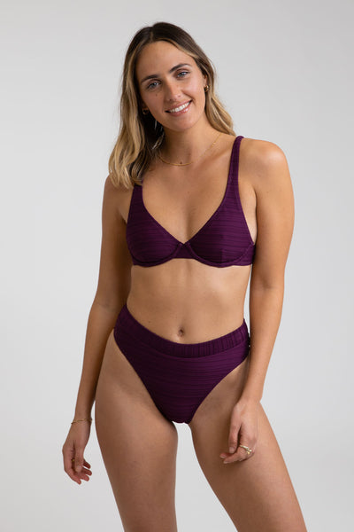 Tahiti Underwire Top Blackberry