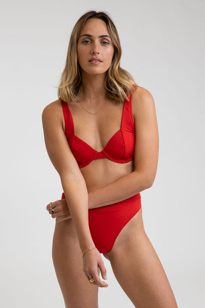 Seaside Underwire Top Scarlet