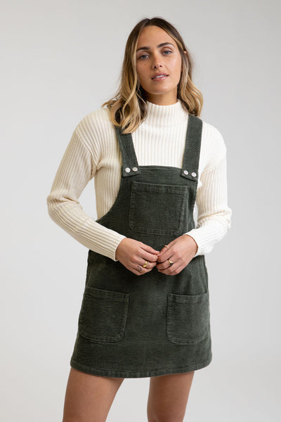 Edinburge Pinafore Dress Forest