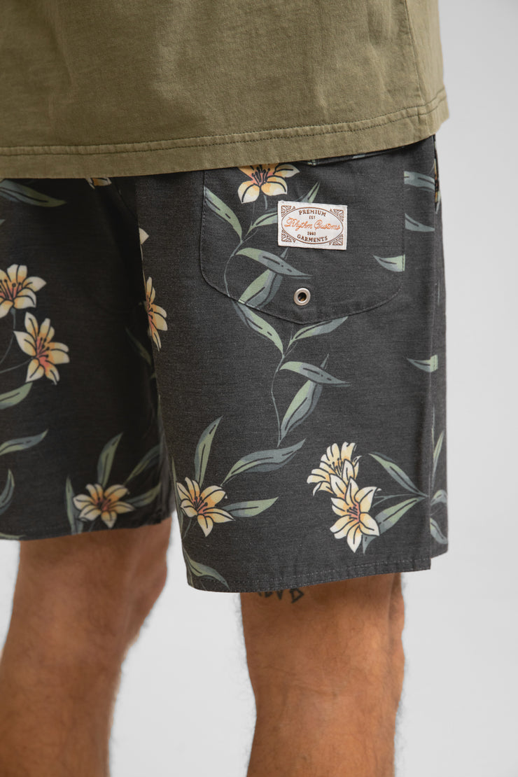 Ivy Floral Beach Short Navy