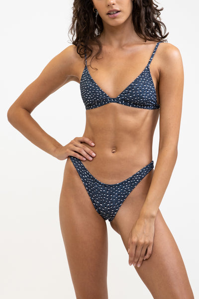 Pebble Bralette Top Dark Indigo
