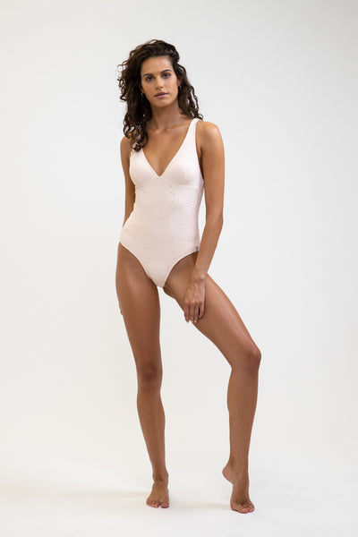 Ivy Tall Tri One Piece Rosewater